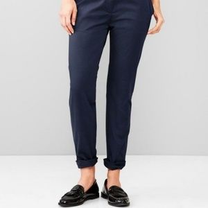 Gap Navy Broken-In-Straight Khakis